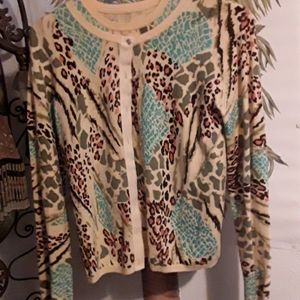 Bamboo Traders 2 pc. SWEATER SET  (S)